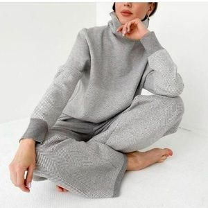 WFH lounge wear top and bottom